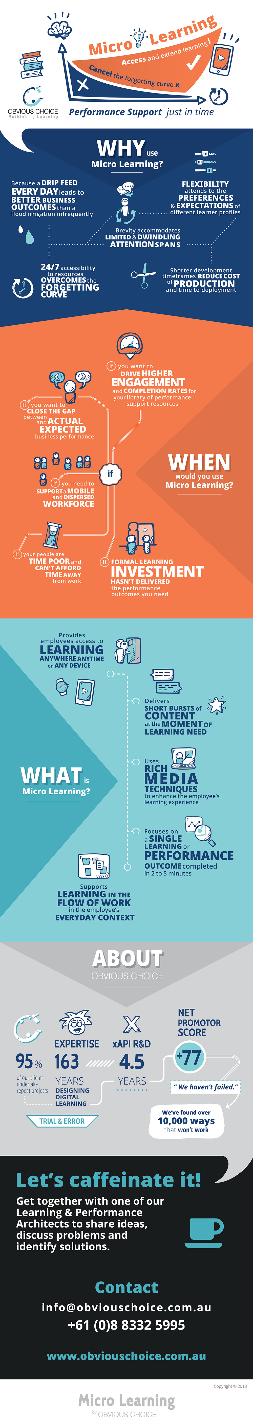 Micro Learning Infographic by Obvious Choice